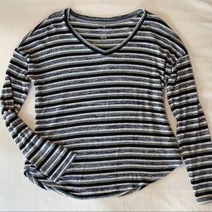 AE soft & sexy long sleeve striped shirt